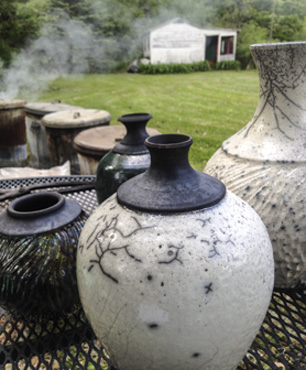 Raku Firings Monroe Clayworks